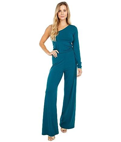 bobi Los Angeles Draped Modal Jersey One Shoulder Jumpsuit (Mystic) Women