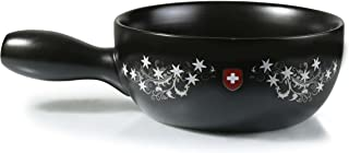 Artestia Ceramic Cheese Fondue Cooking Pot (Fondue Pot - Swiss Floral)