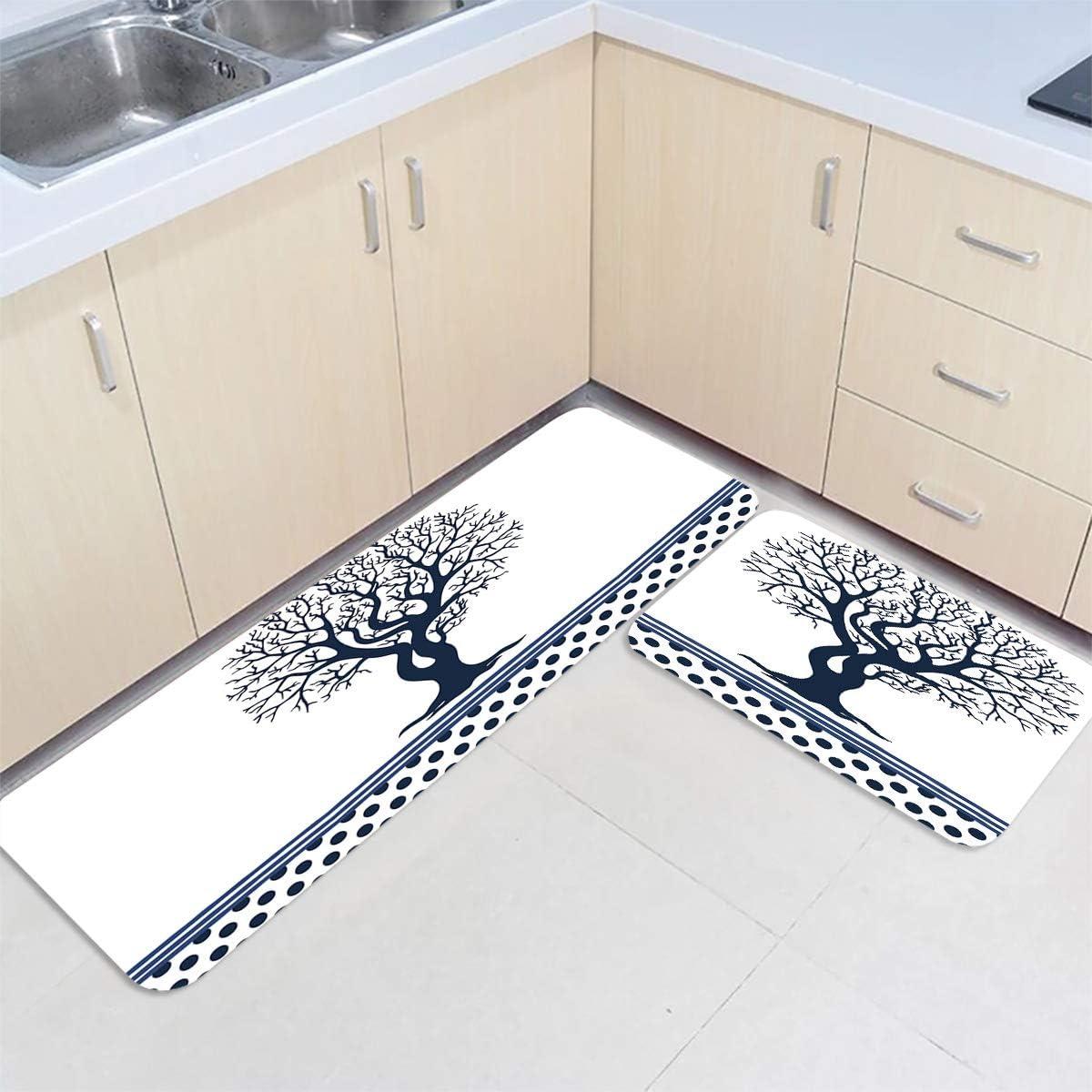 Kitchen Mat Set of 2 Non-slip Decorati Floor Max 89% OFF National uniform free shipping Premium