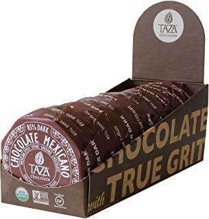Taza Chocolate Organic Mexicano Disc 85% Dark Chocolate, Super Dark, 2.75 Ounce (12 Count), Vegan