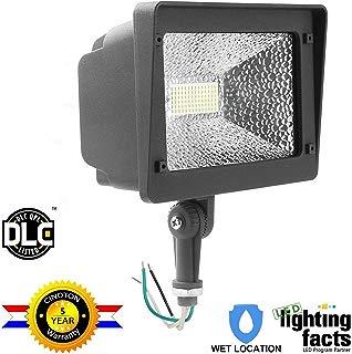 Cinoton LED Flood Light,180°Adjustable Knuckle, 50W Security Outdoor Lighting (250W Equivalent), 5500 Lumen, 5000K (Crystal White Glow), Waterproof, IP65, 100-277v,LED Floodlight for Yard, Garden etc