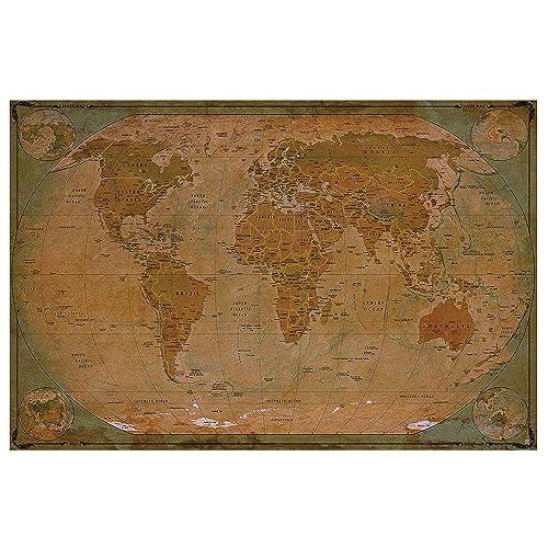 Vintage World Map: Amazon.co.uk