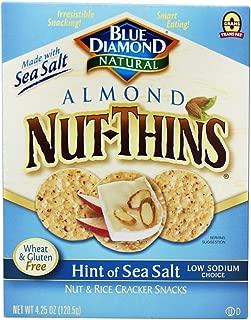 Blue Diamond Growers - Almond Nut-Thins Nut & Rice Cracker Snacks Hint of Sea Salt - 4.25 oz (pack of 2)