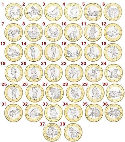 Fanaxii Goldmünze Gedenkmünze Romantische Erwachsene Münze 6 Euro Münzen Begleiter Münze Spiel-Münze Sammlermünzen Sammlerstück Medaille Sammlung Sammeln Geschenk Alle 1Pcs