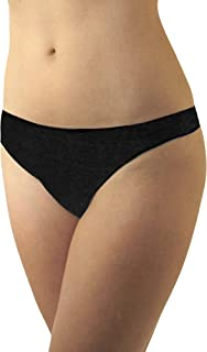 Underworks Womens Disposable 100% Cotton Thong Panties - for Travel- Hospital Stays- Emergencies 10-Pack or 20-Pack