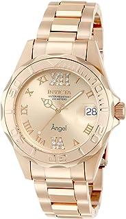 Invicta Women's 14398 Angel Analog Swiss-Quartz Rose Gold Watch