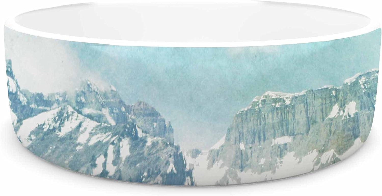 KESS InHouse Sylvia Coomes Pastel Mountains  bluee Nature Pet Bowl, 7