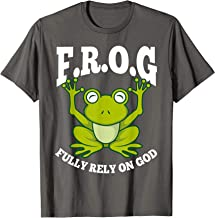 Frog Fully Rely On God Shirt   Cool Religious T-shirt Gift