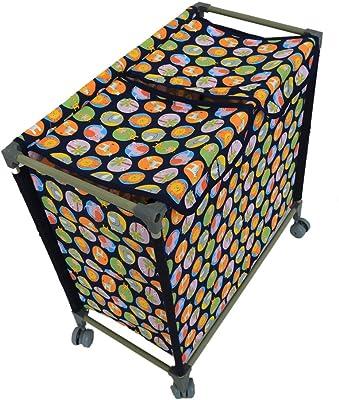Kuber Industries Cloth Laundry Organiser with Wheels (KI6963), Multicolour