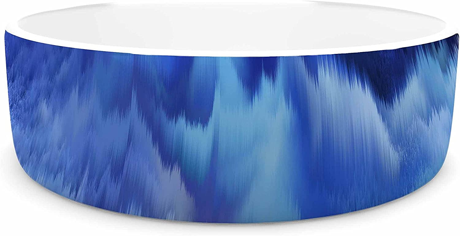 KESS InHouse Nina May Saltwater Collage  bluee Pet Bowl, 7