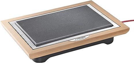 Lagrange 199002 grillrooster voor vlees, steen, 1100 W, frame van gelakt hout