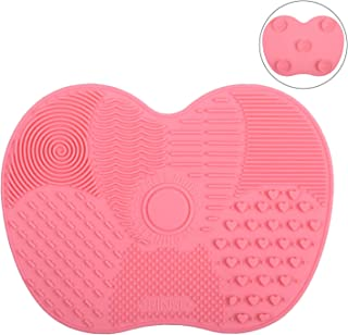 GEHARTY Makeup Brush Cleaner Pad Makeup Brush Cleaning Mat makeup brushes Cleaning Mat Portable Washing Tool Scrubber With...