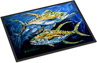 Caroline's Treasures MW1125JMAT Fish - Tuna Tuna Blue Indoor or Outdoor Mat 24x36 Doormat, 24H X 36W, Multicolor