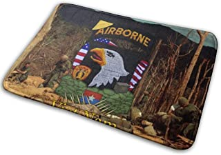 Omigge Bathroom Rug Mat (24 X 16 Inch),Extra Soft and Absorbent Rugs, Machine Wash/Dry,Floor Mats for Tub, Shower and Bath Room Airborne Division Hamburger Hill Bath Mat
