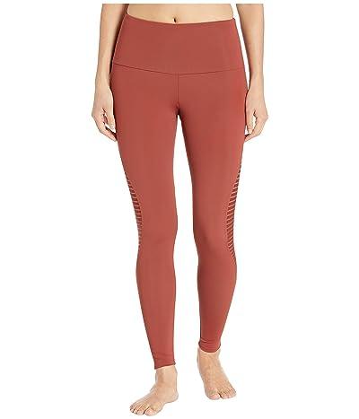 Onzie Shape Midi Leggings (Warm Pinecone Stripe Mesh) Women