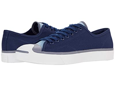 Converse Jack Purcell(r) Canvas Ox (Midnight Navy/Sea Salt Blue) Shoes