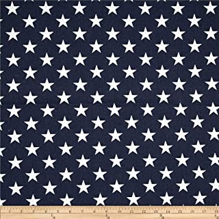 Premier Prints 0368136 Stars Navy Blue/White Fabric by the Yard