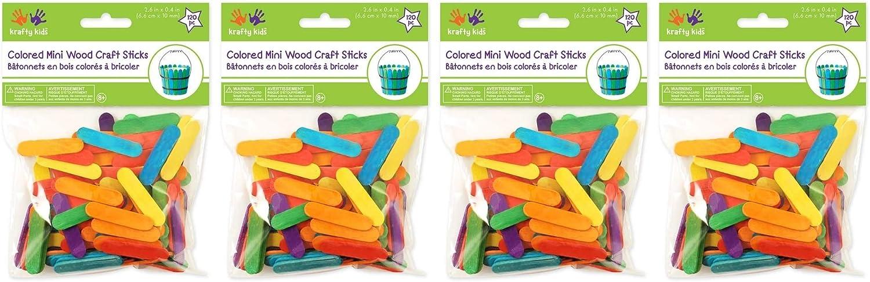 Fоur Расk Mini Craft Sticks-Colored 2.6 120//Pkg