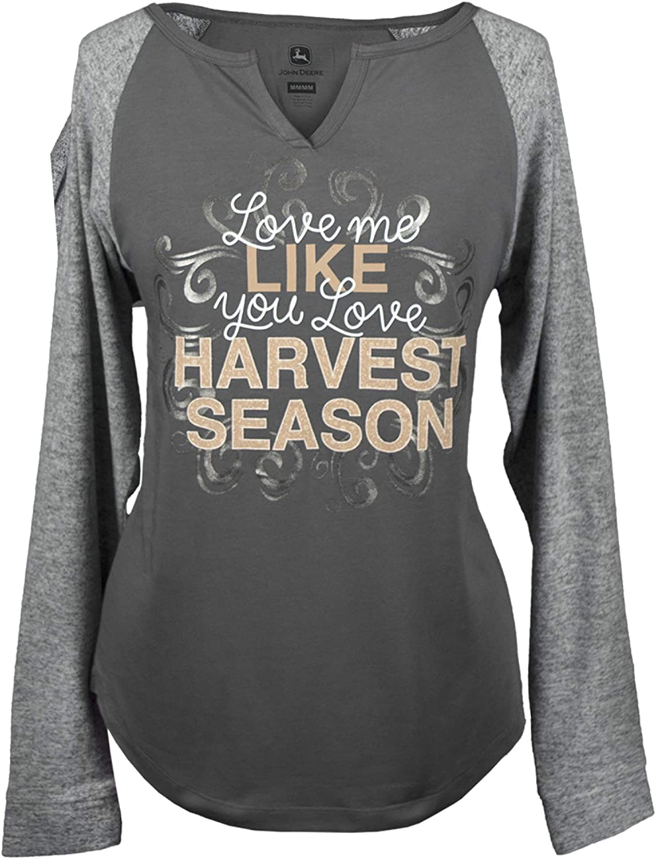 John Deere Women's Harvest Sleeve Season Max 44% OFF Long Cheap