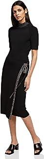KARL LAGERFELD Logo Tape Wrap Knit Skirt Falda para Mujer