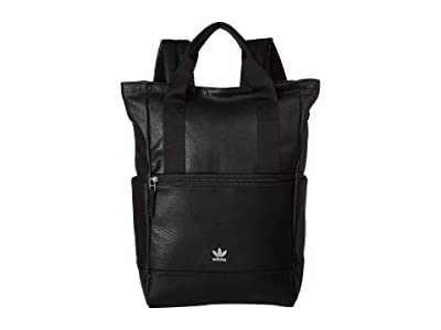 adidas Originals Originals Tote III Premium Backpack (Black PU Leather) Backpack Bags