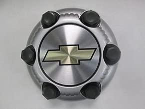 16 17 Inch OEM Chevy 6 Lug Silver Painted Center Cap Hubcap Wheel Cover, 1999-2013 # 15067578 5129 5129S Silverado Avalanche Express Suburban Tahoe Astro 1500 Truck Van Suv