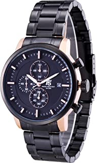 Watch for Men by T5, Analog, Stainless Steel, Coloren, H3451G-D