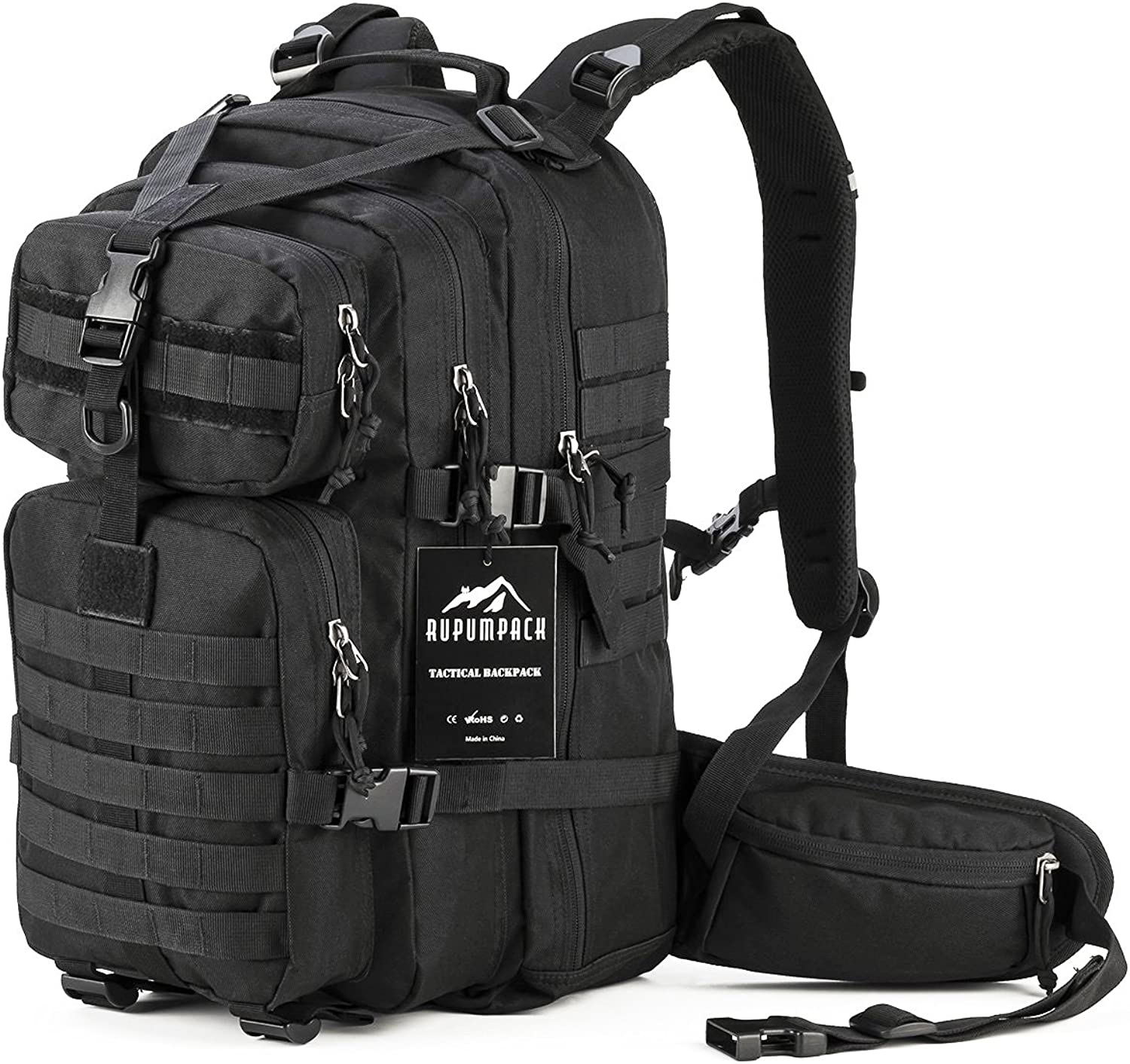 Military Tactical Backpack Hydration Pack, Army MOLLE Bug Out Bag for Hiking Camping Trekking School Pack