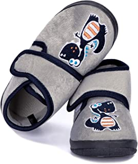 Baby Slippers Boys Embroidery Cute Cartoon Walking Shoes Non Slip Soft Sole