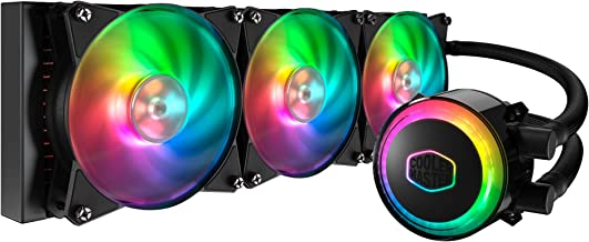Cooler Master Liquid ML360R Addressable RGB Close-Loop AIO CPU Liquid Cooler, 360 Radiator, Dual Chamber Pump, Dual MF120R Fans, Independently-Controlled ARGB LEDs for AMD Ryzen/Intel 1151