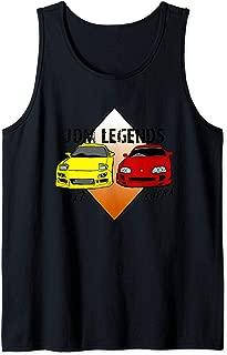 JDM Legends Classic Cars Rx7 and Supra Turbo Sports Drift  Tank Top