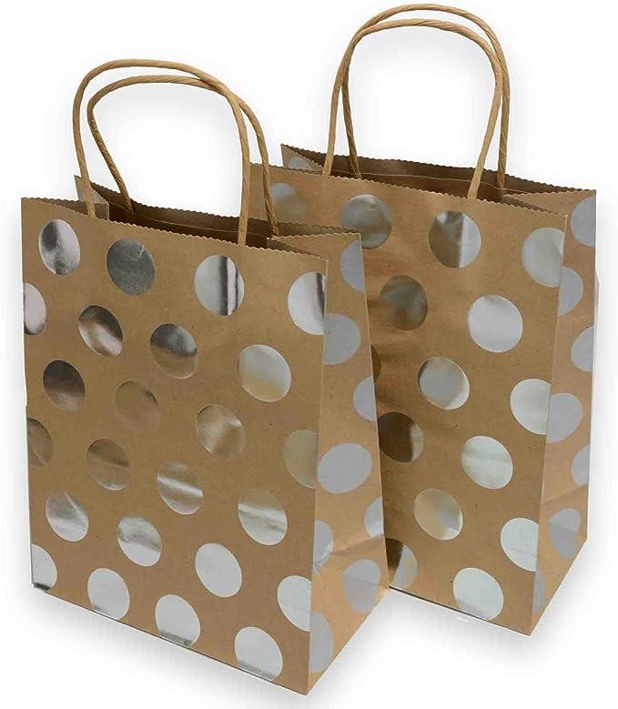2 polka dot on black cardboard gift bags. ref:1179