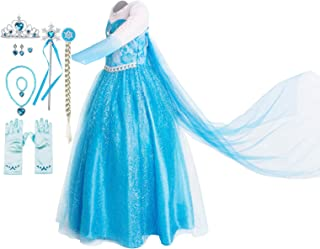 Costume for Girls Princess Dress Up Costume Cosplay Fancy Party