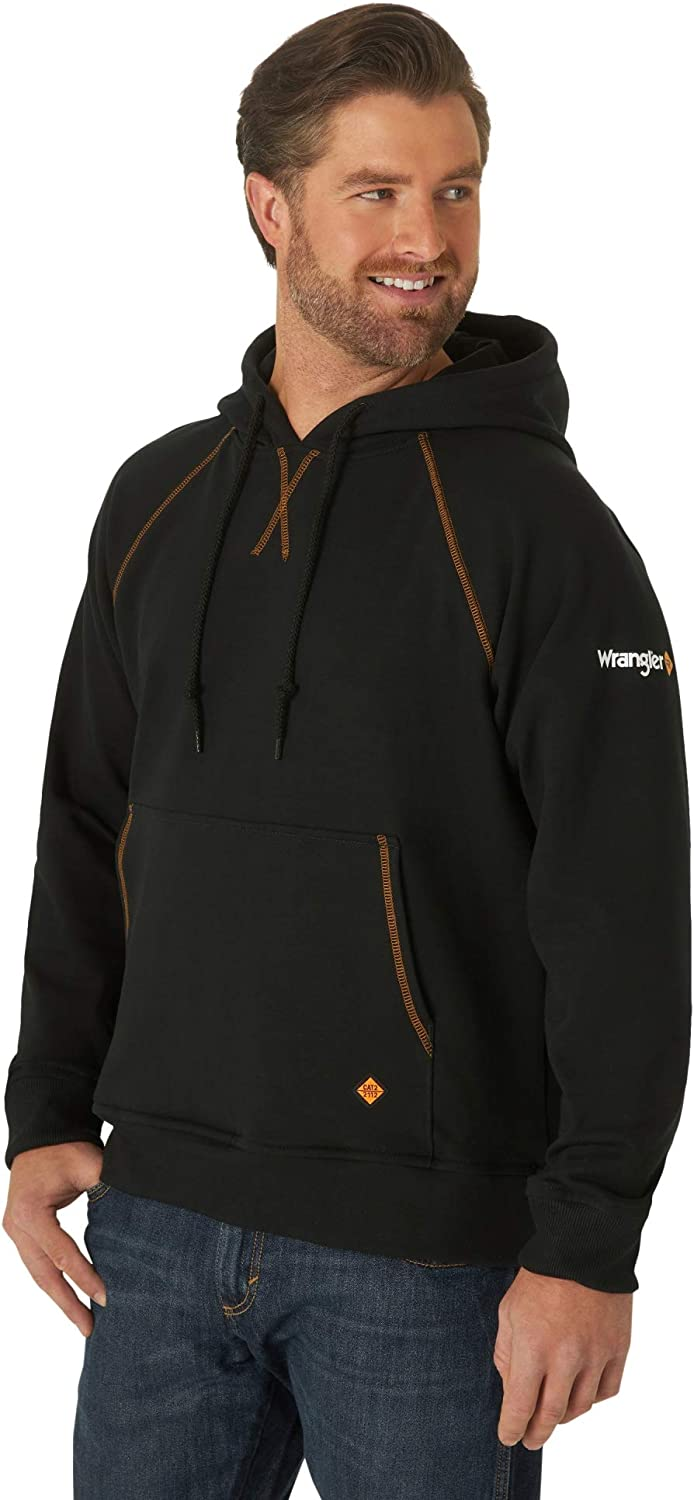 Wrangler Riggs Workwear Men's Fr Flame Resistant Hoodie: Clothing, Shoes & Jewelry
