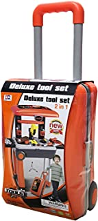 Deluxe tool play set, trolley design cover box