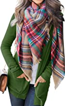 NENONA Women's Open Front Casual Pockets Sweater Cardigan Long Sleeve Loose Classic Knitwear