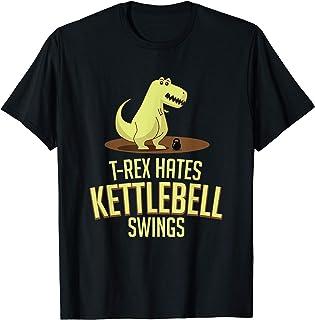 T-Rex Hates Kettlebell Swings Funny Leg Day Gym Maglietta