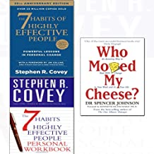 Who moved my cheese,7 habits of highly effective people,personal workbook 3 books collection set