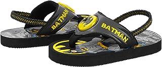 Batman Led Light Up Flip Flop Beach Shoes Toddler Little Boys