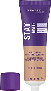 Rimmel Stay Matte Foundation Soft Beige 1 Fluid Ounce Bottle Soft Matte Powder Finish Foundation for a Naturally Flawless Look