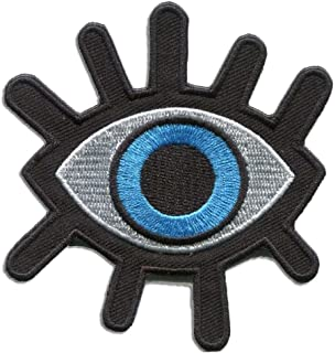 Eyeball Tattoo Wicca Occult Goth Punk Retro Appliqued Iron on/Sew on Embroidery Patch Iron on Patches Jacket Patches