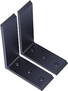 """JMTAAT 2 Heavy Duty Black Steel 6"""" x 8"""" Countertop Support Brackets! Corbel L Shelf"""