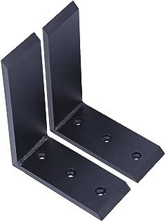 """New 2 Heavy Duty Black Steel 6""""x8"""" Countertop Support Brackets Corbel Lot L Shelf"""