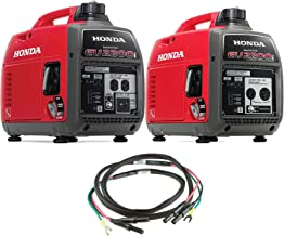 Honda EU2200i 2200W 120-Volt Portable Inverter Generator with Companion and Parallel Cables