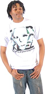 Jabbawockeez Dance Face Fill Logo White T-shirt Tee (XXX-Large 3X)