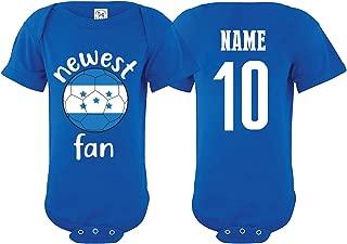 Honduras Bodysuit Newest Fan National Team Soccer Baby Girls Boys Customized
