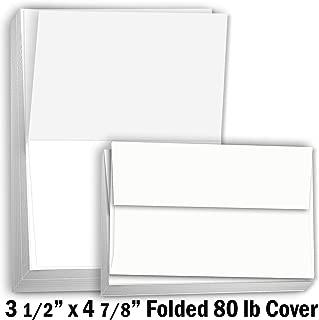 Hamilco White Cardstock Thick Paper – 3 1/2 x 4 7/8