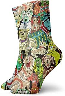 Nother, Lindo Perro Calcetines Cortos Hombres Mujeres Calcetines Crew Sock
