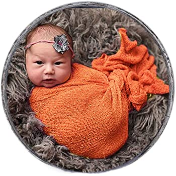 Coral Newborn Baby Photography Prop Baby Girl//Boy Mohair Swaddle Wrap Blanket