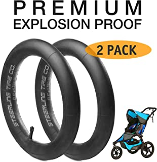 [2 Pack] 12.5'' x 1.75/2.15 Premium Explosion Proof Front Inner Tire Tube for All BOB Revolution Strollers, Stroller Strides and CE & AW - The Perfect BOB Stroller Tire Tube Replacement